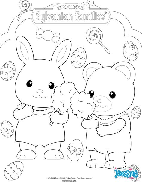 sylvanian family coloring page the sylvanian families celebrate easter coloring pages
