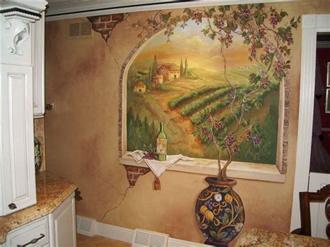 kitchen wall murals tuscan kitchens on tuscan decor tuscan style and tuscan homes