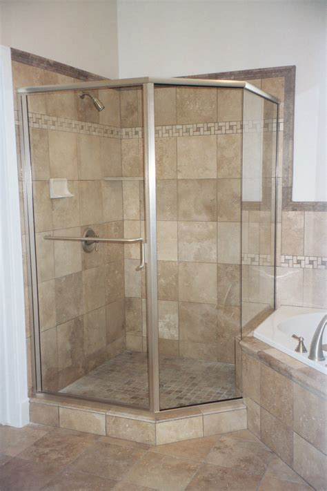 Frameless Neo Angle Shower Doors Semi Frameless Shower Doors Vision Mirror And Shower Door