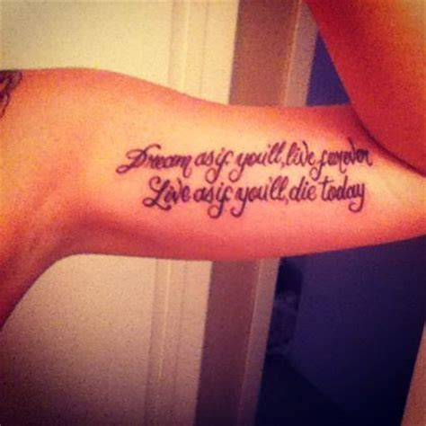 dream as if you ll live forever tattoo 17 best images about awesome tattoos on