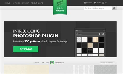 subtle patterns photoshop plugin download 28 free resource websites for designers and developers