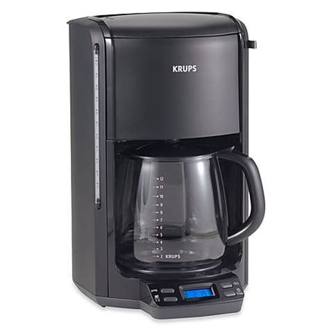 bed bath and beyond coffee makers buy krups 174 12 cup automatic programmable coffee maker from