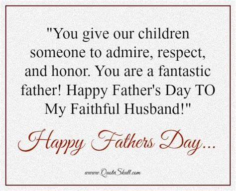 fathers day quotes from to husband fathers day messages for husband from happy