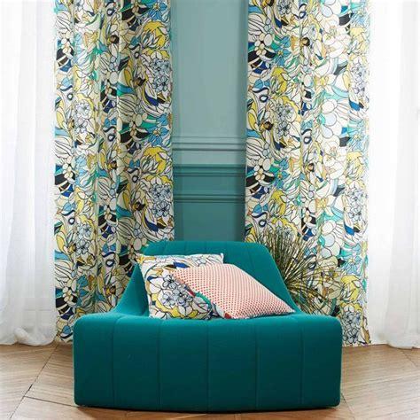 Maduras Rideaux by Rideau 224 Oeillets Coton Roy Bleu Et Jaune Textiles