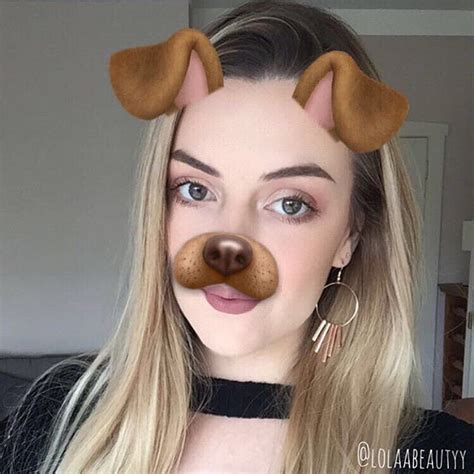 puppy dog filter  helping  makeup  flawless