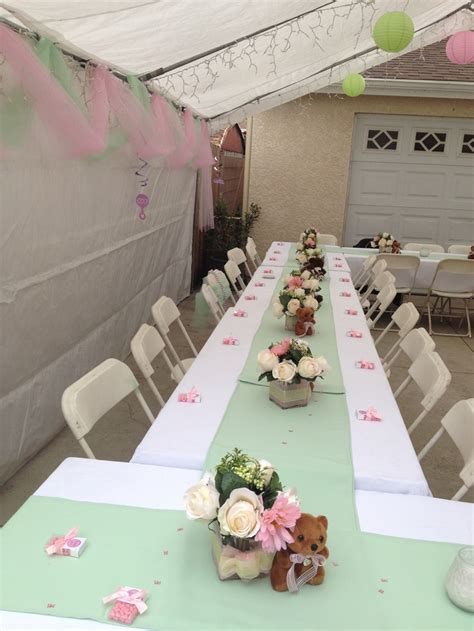 baby shower table setting babies pinterest table set up baby shower pinterest