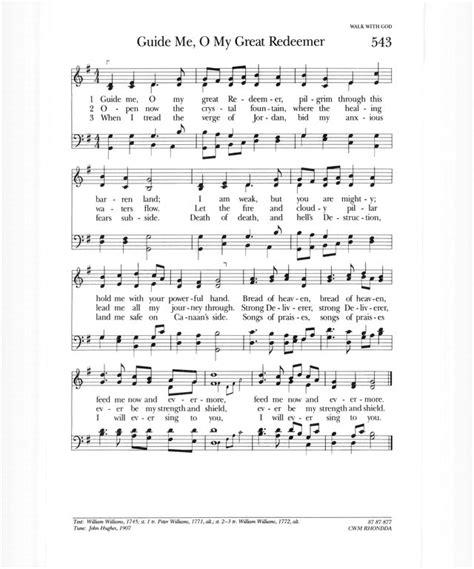 guide me o thou great redeemer wedding hymn psalter hymnal gray 543 guide me o my great redeemer