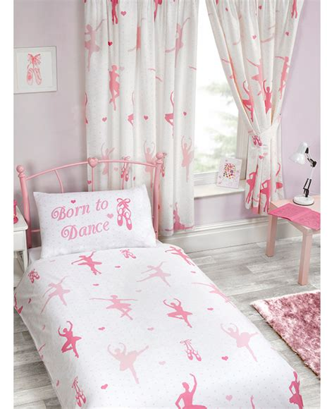ballet curtains born to dance lined curtains bedroom ballerina ballet