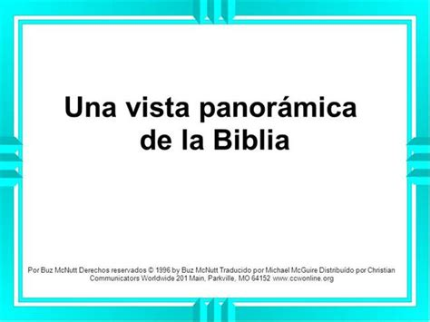 panorama visualizado de la biblia vista panoramica de la biblia authorstream