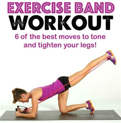 exercise band workout for your legs on tone and tighten