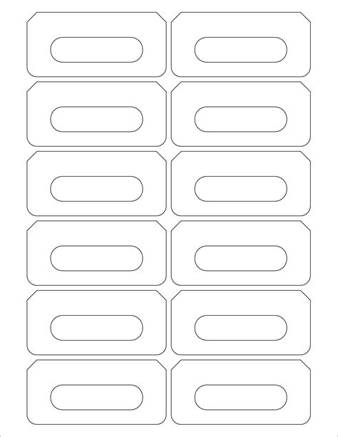 Audio Cassette Labels 12 Up A Quality Blank Labels Audio Cassettes Duplication Ca Labels Template Free
