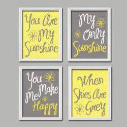 yellow gray nursery you are my wall canvas