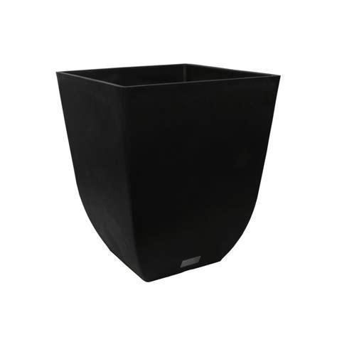 Veradek Sierra 22 In Black Square Plastic Planter Sv22b Black Planter