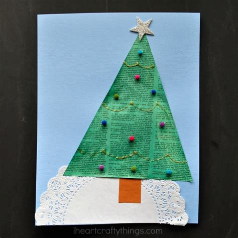 recycled newspaper christmas tree craft i heart crafty