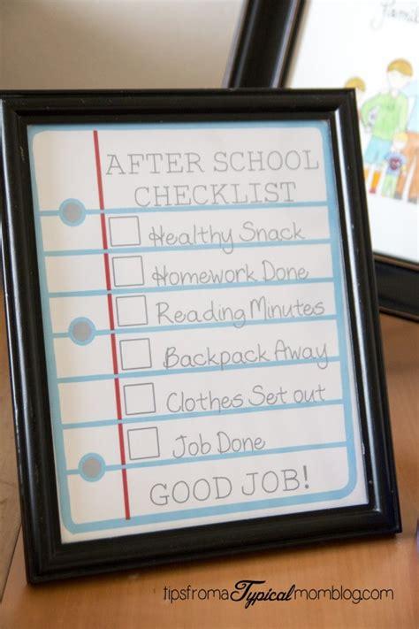 school checklist  kids  printable