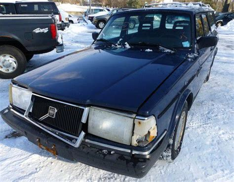 sell used rare volvo 240 wagon 1992 5 speed manual blue well maintained no reserve in worcester