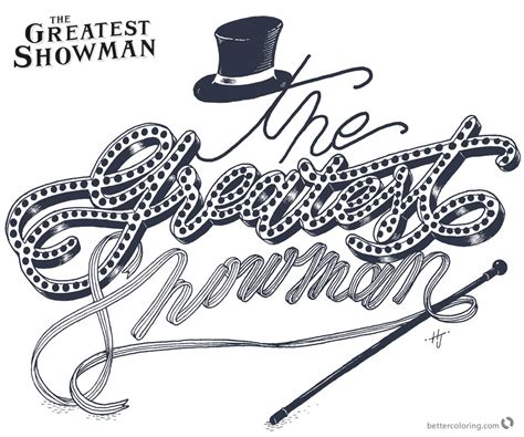 the greatest showman coloring pages letters free