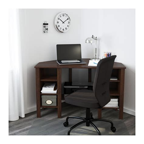 Ikea Art Desk Brusali Corner Desk Brown 120x73 Cm Ikea