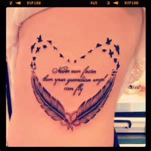Pretty feather and quote tattoo feather tattoo pinterest