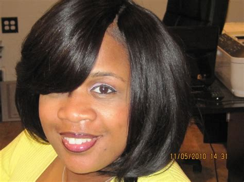 Invisible Part Hairstyles by Invisible Quickweave Layered Bob Hairstyle 2013