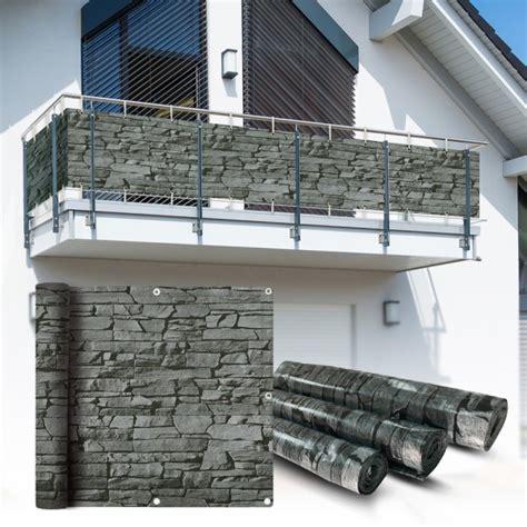 pvc balkon sichtschutz sichtschutzfolie schiefer 6x0 9m