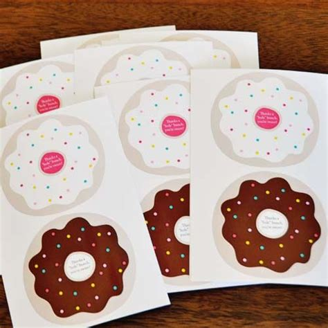 printable tags with holes thanks a quot hole quot bunch donut printable thank you gifts
