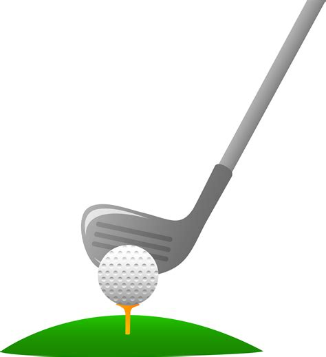 golf clipart closeup of golf and club free clip