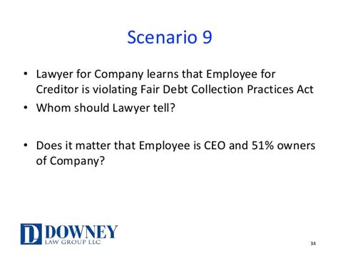 fair debt collection practices act section 809 b debtor and creditor attorney ethics may 2017