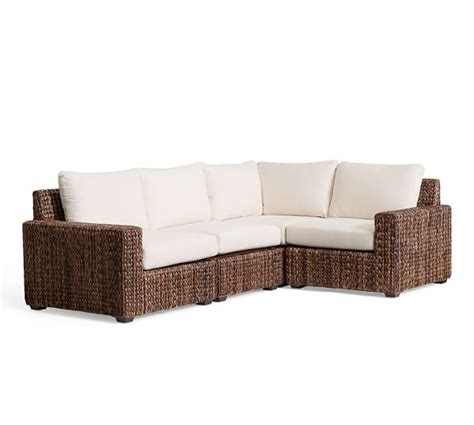 Seagrass Sectional Sofa by Seagrass Square Arm 4 Sectional Pottery Barn