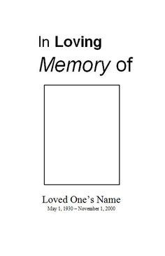 Heaven S Gate Memorial Service Template For Microsoft Word This Is Just One Of The Funeral In Loving Memory Template Free