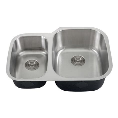 30 Inch 18 Gauge Stainless Steel Undermount 40 60 Double 40 Inch Kitchen Sink
