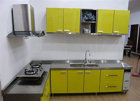 Metal Kitchen Furniture by China Modern Stainless Steel Kitchen Cabinets Furniture