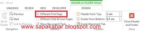 cara membuat nomor halaman agar berurutan cara membuat nomor halaman berbeda pada satu file