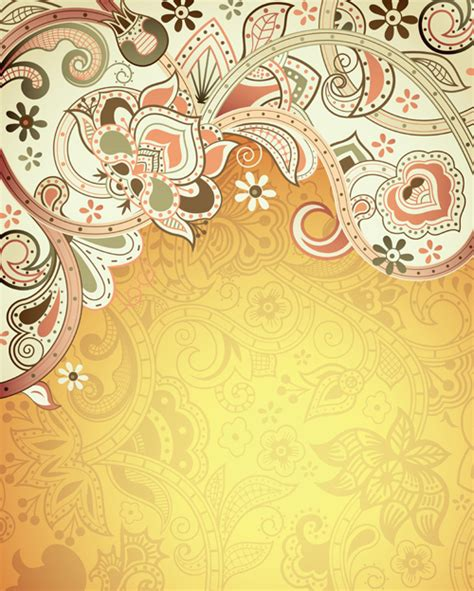 Home Design 3d Gold Download Android Floral Patterns Retro Style Background 01 Over Millions