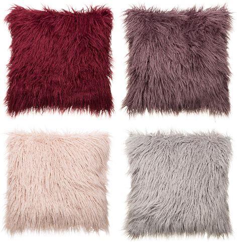 mongolian fur oversized cushion soft furnishings