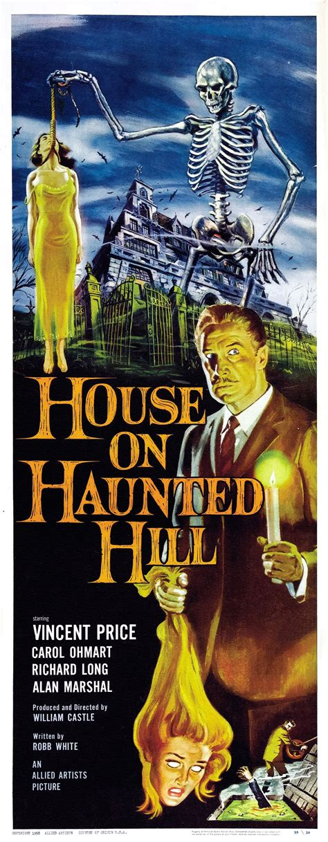 The House On Haunted Hill by Poster For House On Haunted Hill 1959 Usa Wrong Side Of The