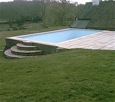 partially above ground swimming pool for a lot