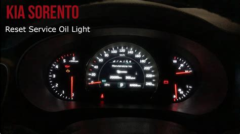 kia sorento airbag light kia sorento reset service light
