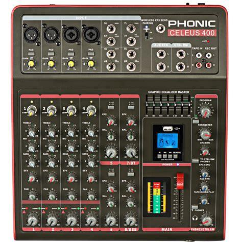 Table De Mixage Enregistreur phonic celeus 400 mixeur analogique avec enregistreur usb