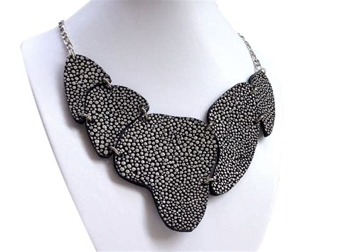 Handmade Leather Necklace - handmade leather necklace armadillo silver 2 in 1