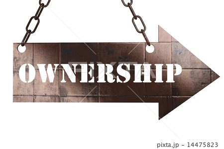 jp ownership ownership word on metal pointerのイラスト素材 14475823 pixta
