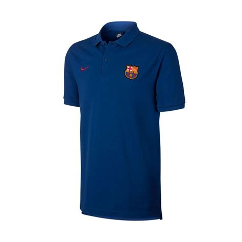 Polo Shirt Nike Barca 1 polo shirt nike fc barcelona nsw crew 2017 2018 royal blue noble soloporteros is now