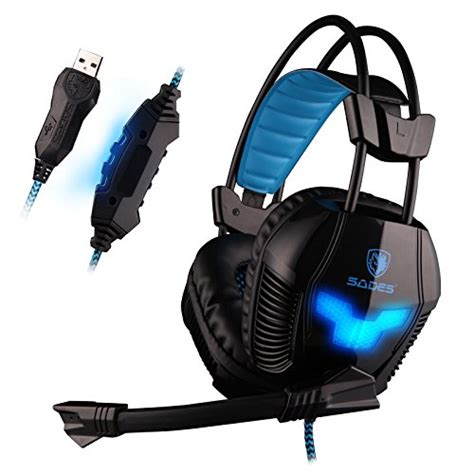 Headset Sades A30 sades a30 professional usb stereo gaming headset headphone with microphone black best gamer