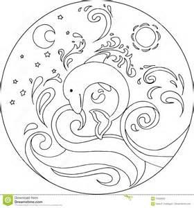 farbton delphin mandala vektor abbildung bild 70234554