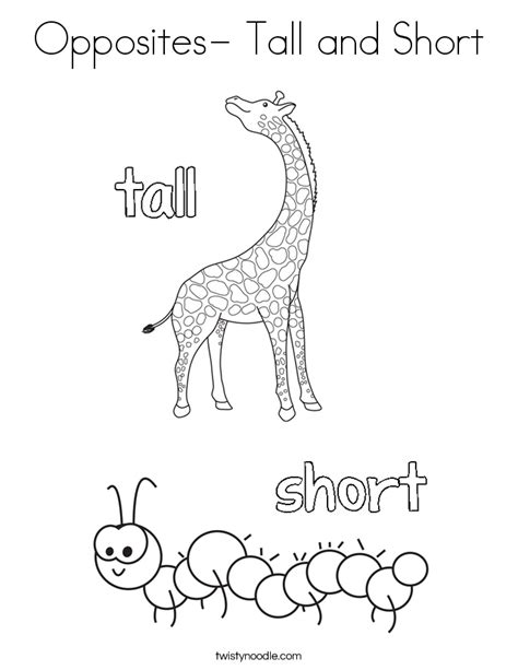 opposites coloring pages for toddlers opposites and coloring page twisty noodle