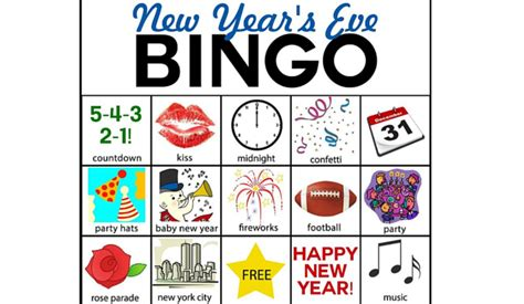 new year picture bingo kid friendly new years highlights your child you