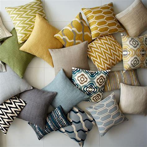 pattern matching elm chain crewel pillow cover horseradish west elm