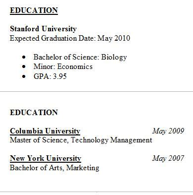 resume examples for high school education section resume ixiplay