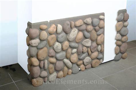 faux river rock panels installation