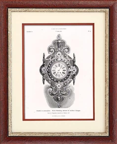 Miroir Fenetre 1877 by Gravures Anciennes Pendule En H